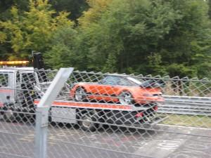 En uheldig Porsche sjåfør (hadde norske skilter)