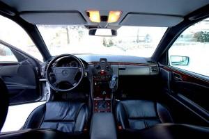 Mercedes W210 interior dashboard leather